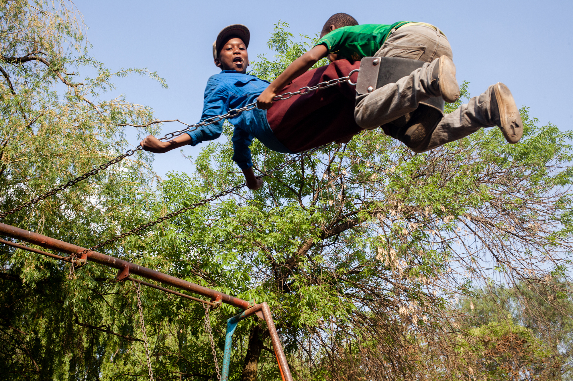 Children playing in a park. Soweto.2014 .jpg