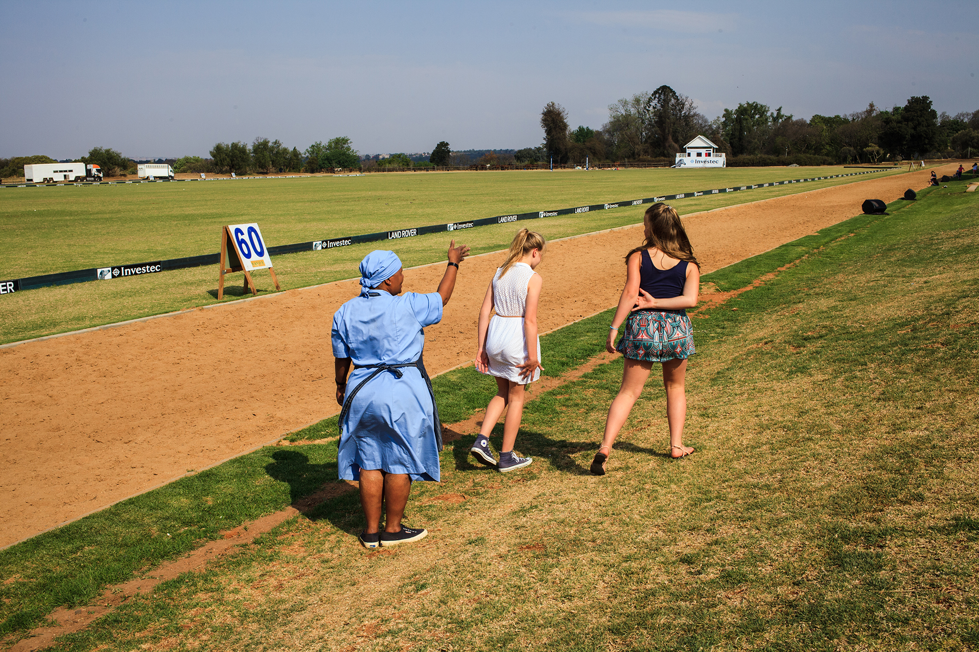 Domestic worker at Inanda Club during a Polo game. 2014.jpg