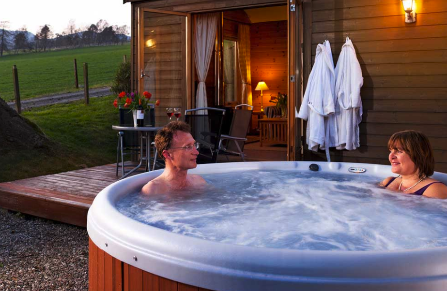 The new lodges will be offered with hot tubs and log burners as optional extras. (image for illustration purposes)