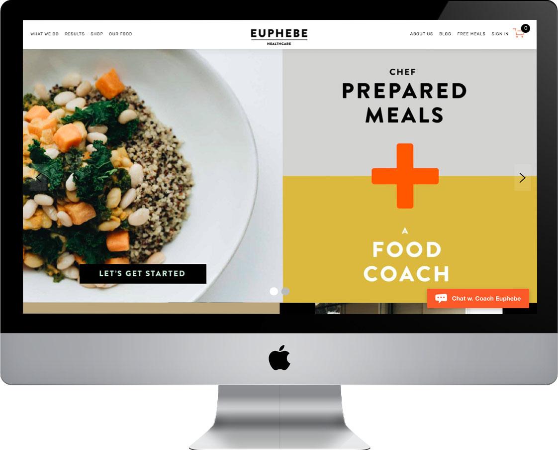 Web design for Euphebe Healthcare