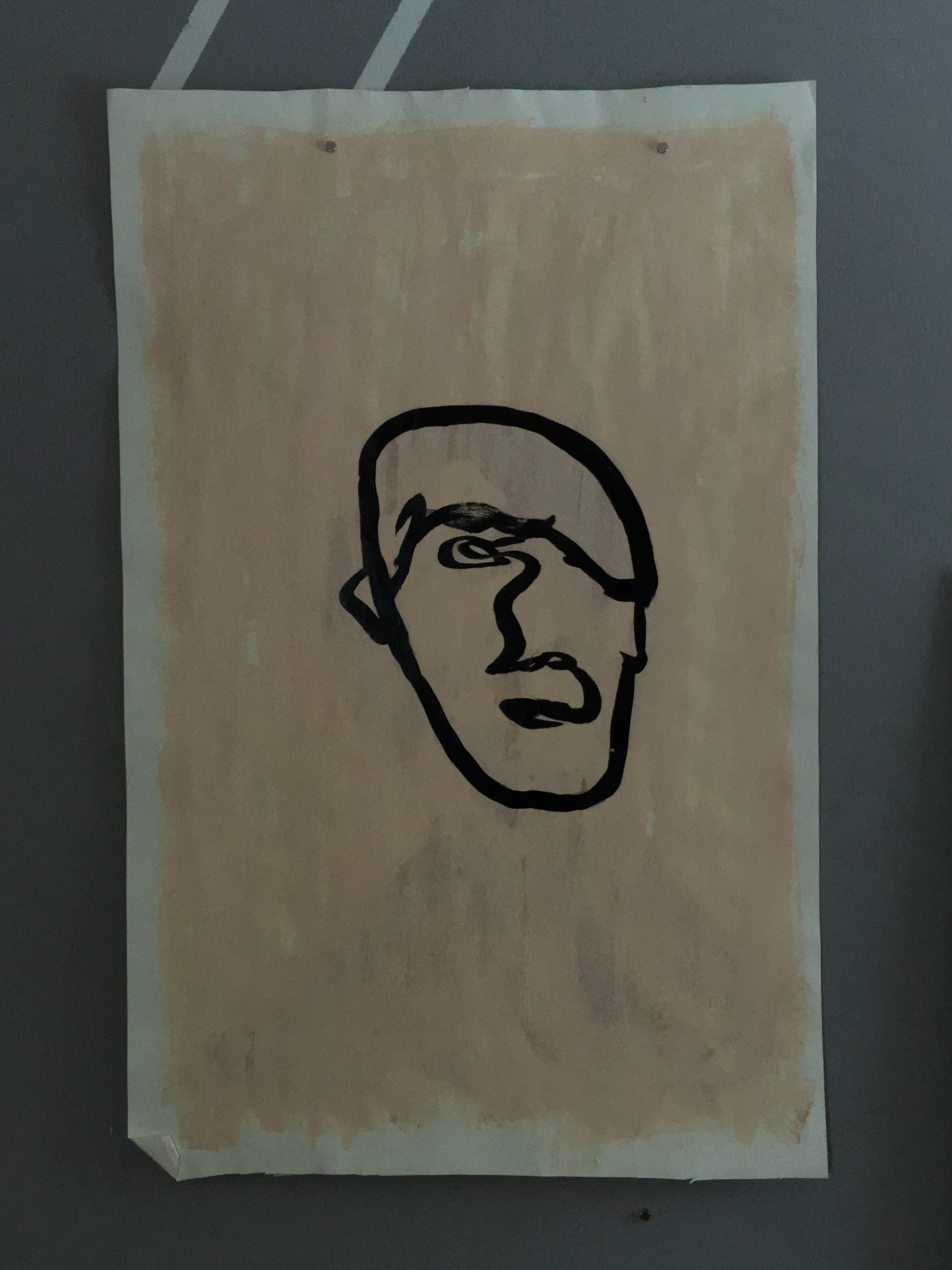 "Self portrait, 24""x37"""