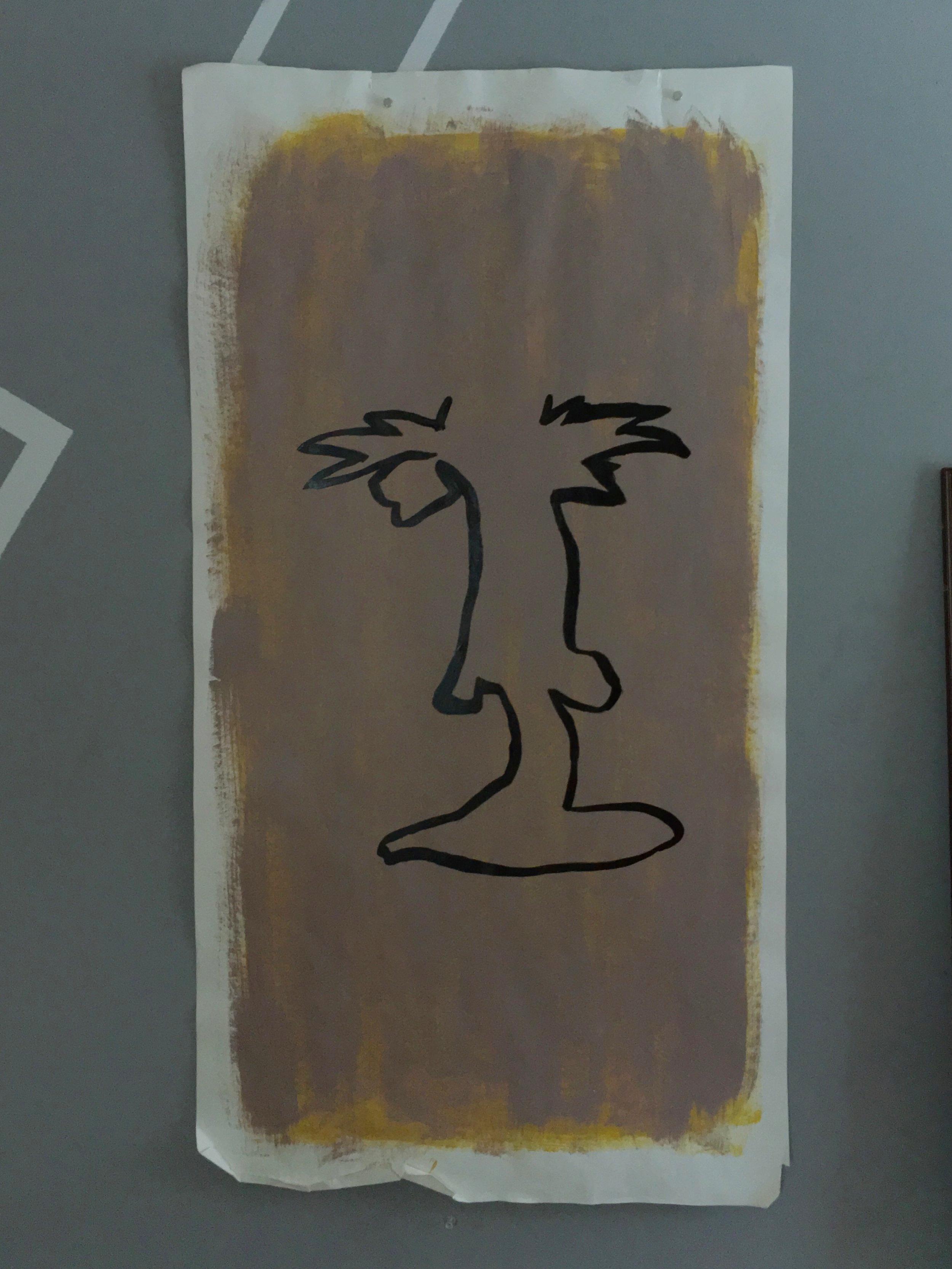 """Single line face facing both ways, 24""""x47"""""""