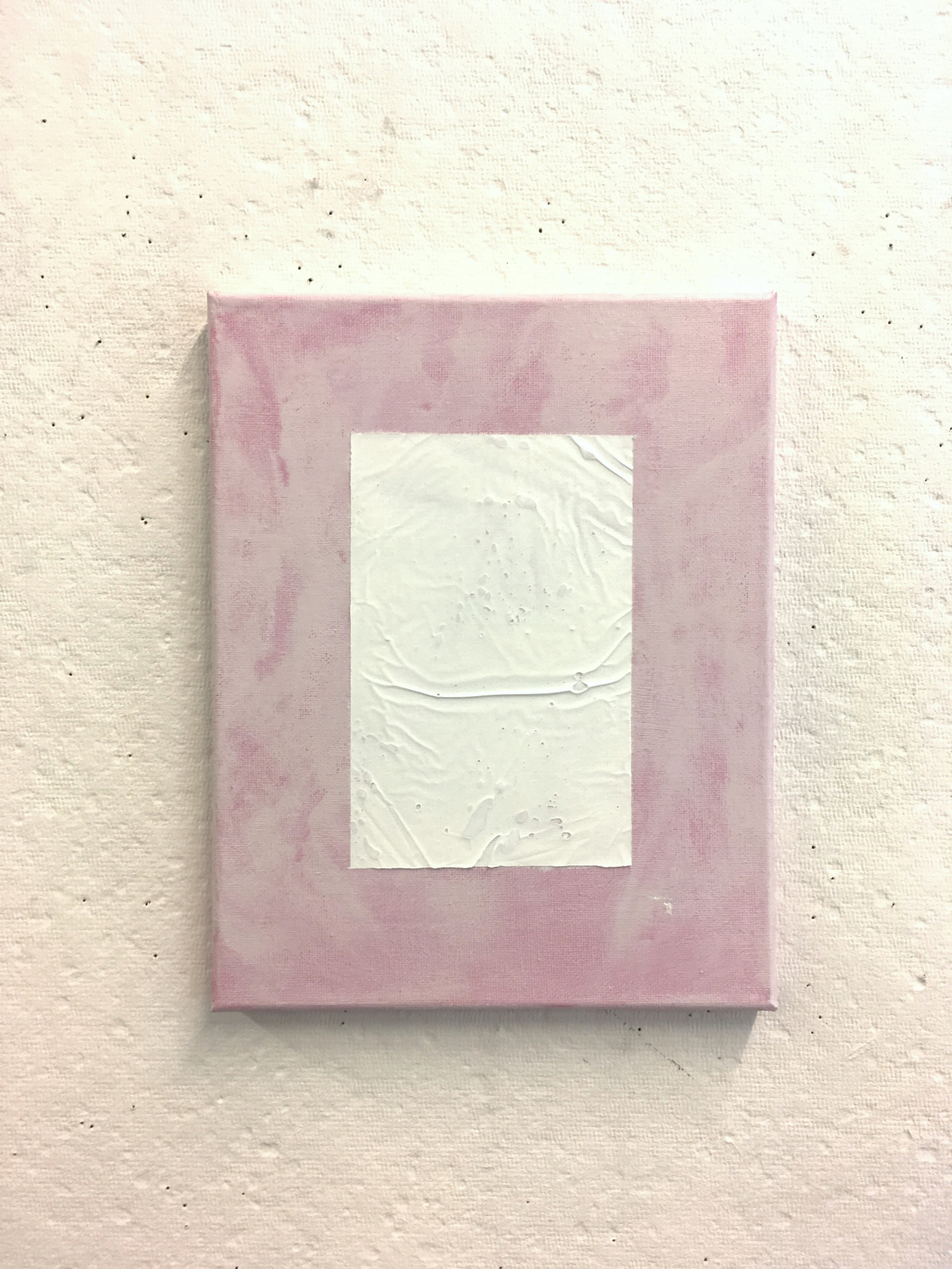 """White over Patchy Pink, 8""""x10"""""""