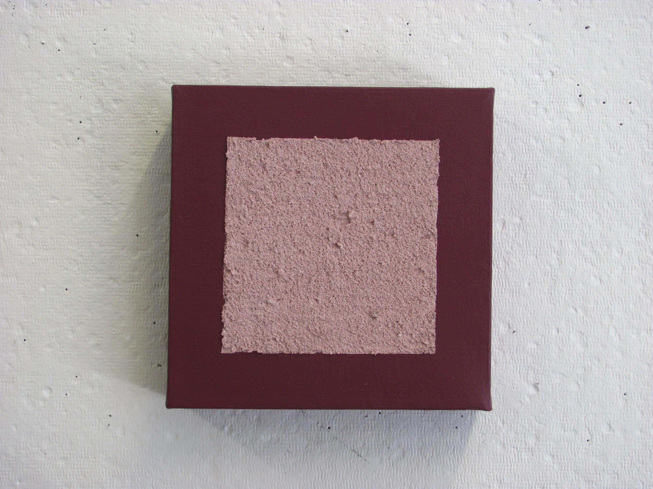 """Sandy pink on a deeper purple, 6""""x6"""""""
