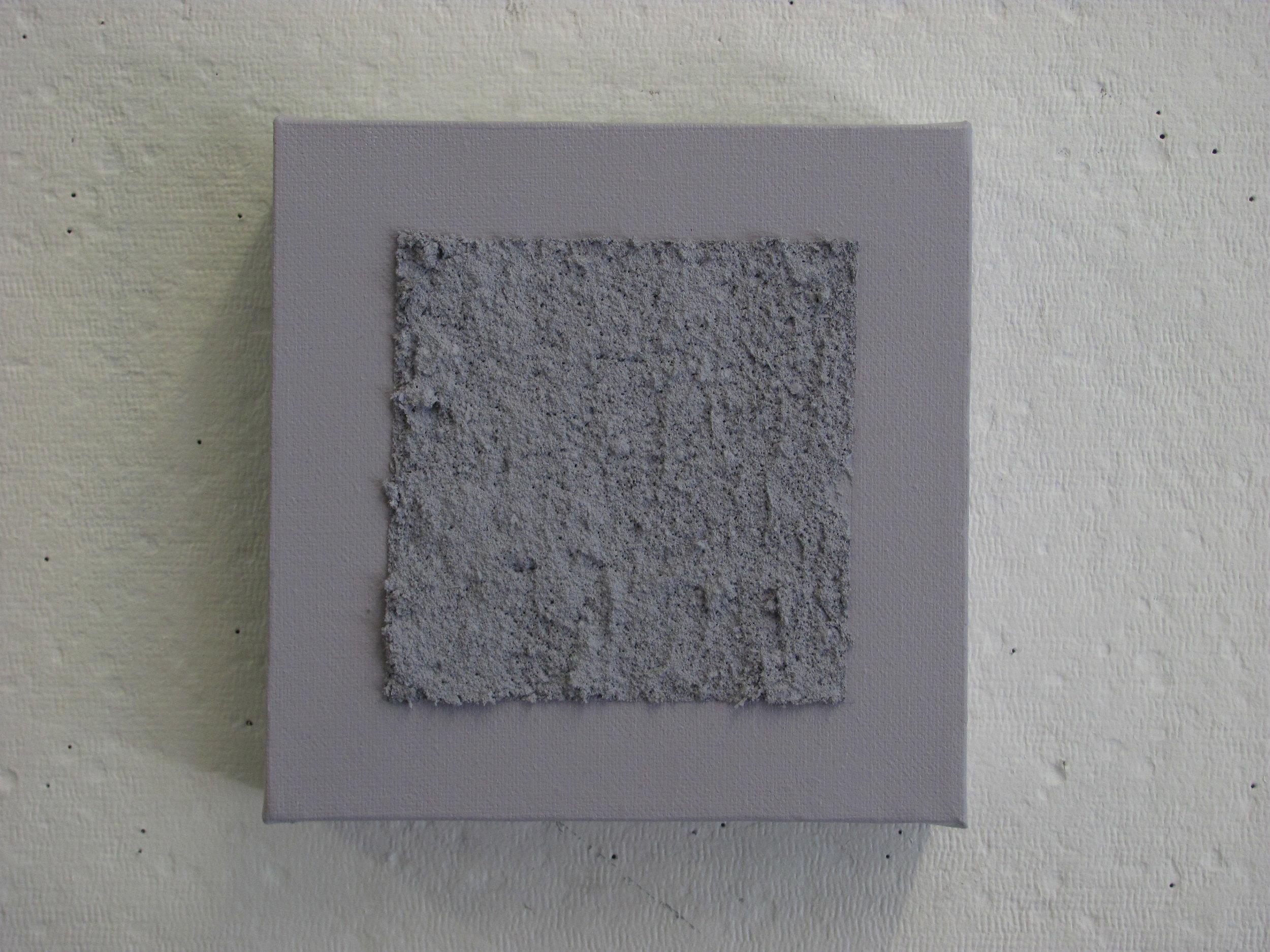 "Sandy light grey on light grey, 6""x6"""