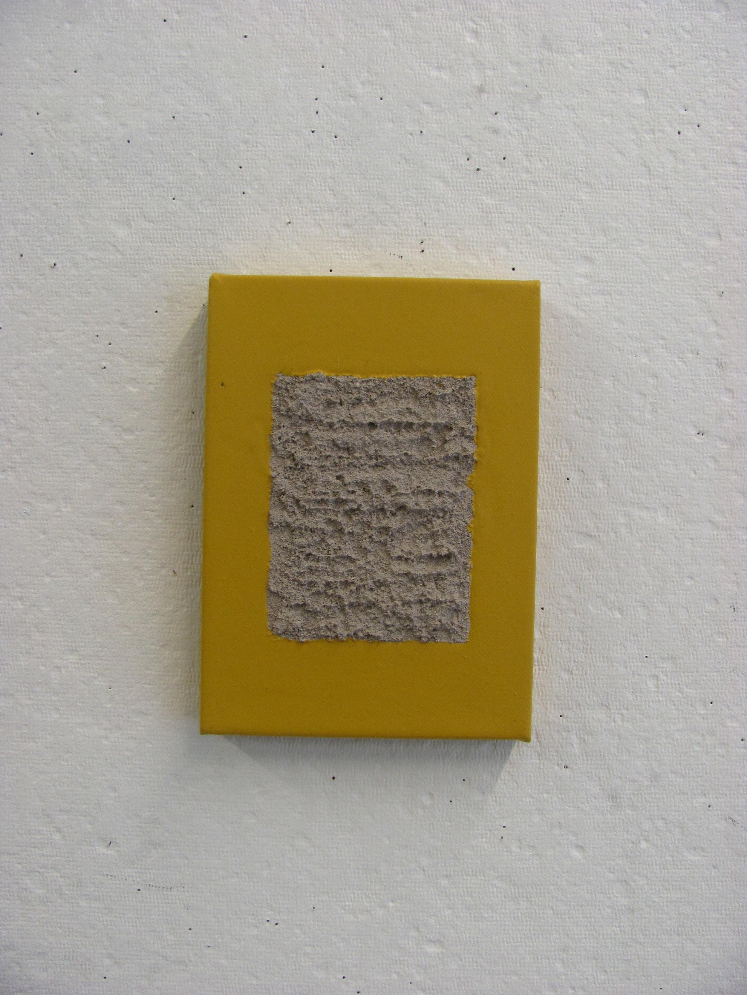 """Yellow pour around sandy grey, 5""""x7"""""""