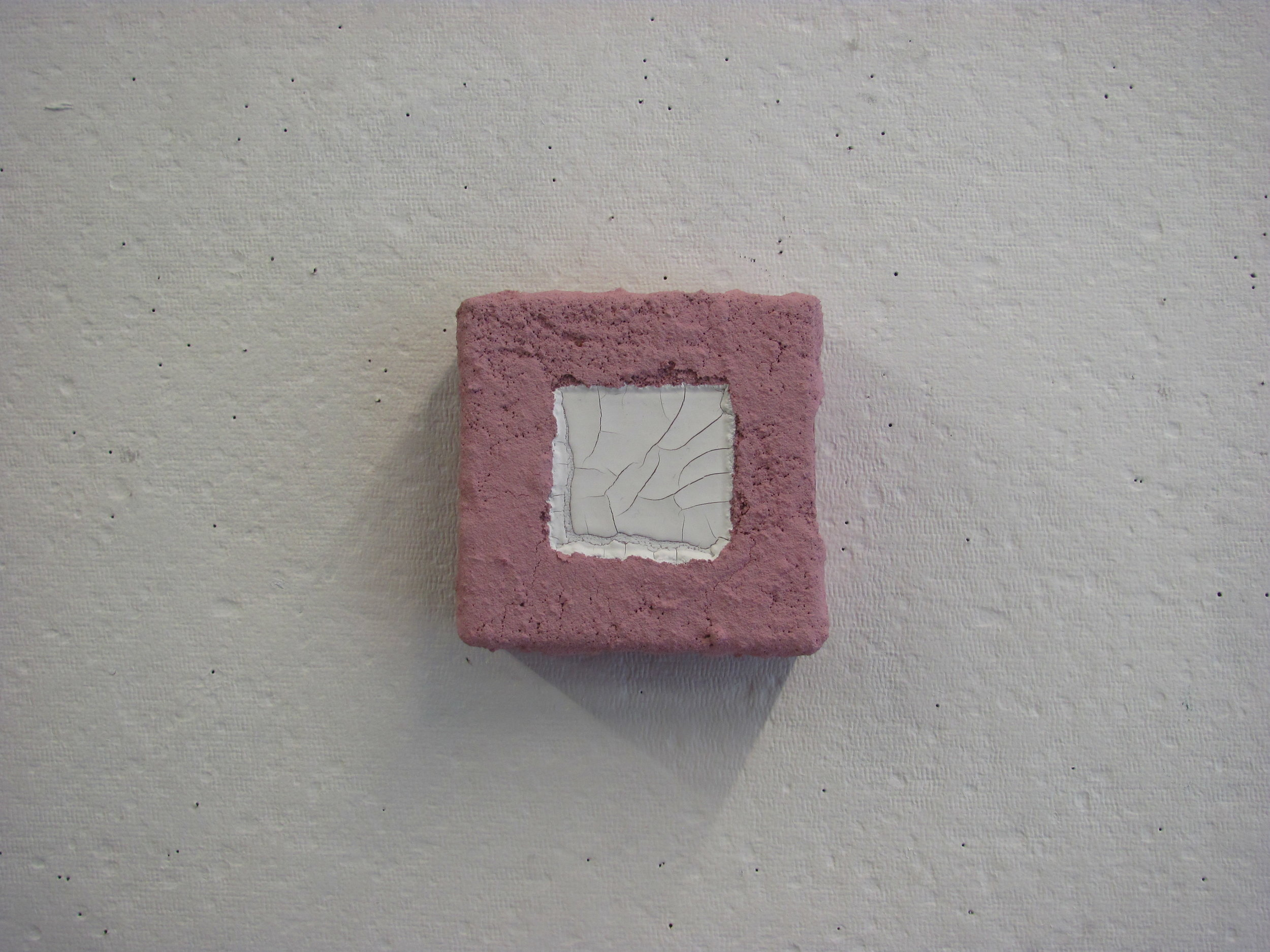 """White pour in sandy pink, 4""""x4"""""""