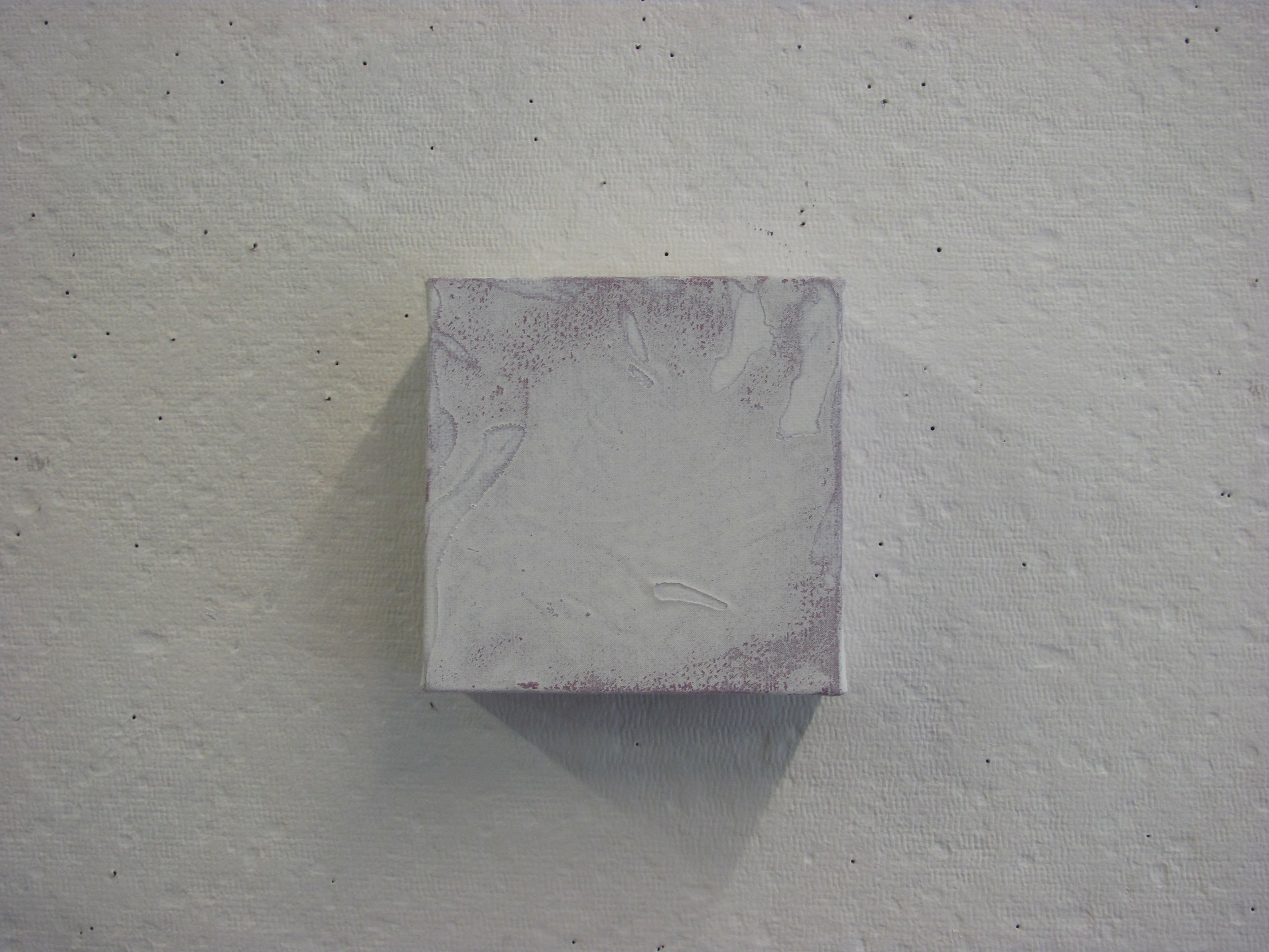 "White cotton texture over purple, 4""x4"""