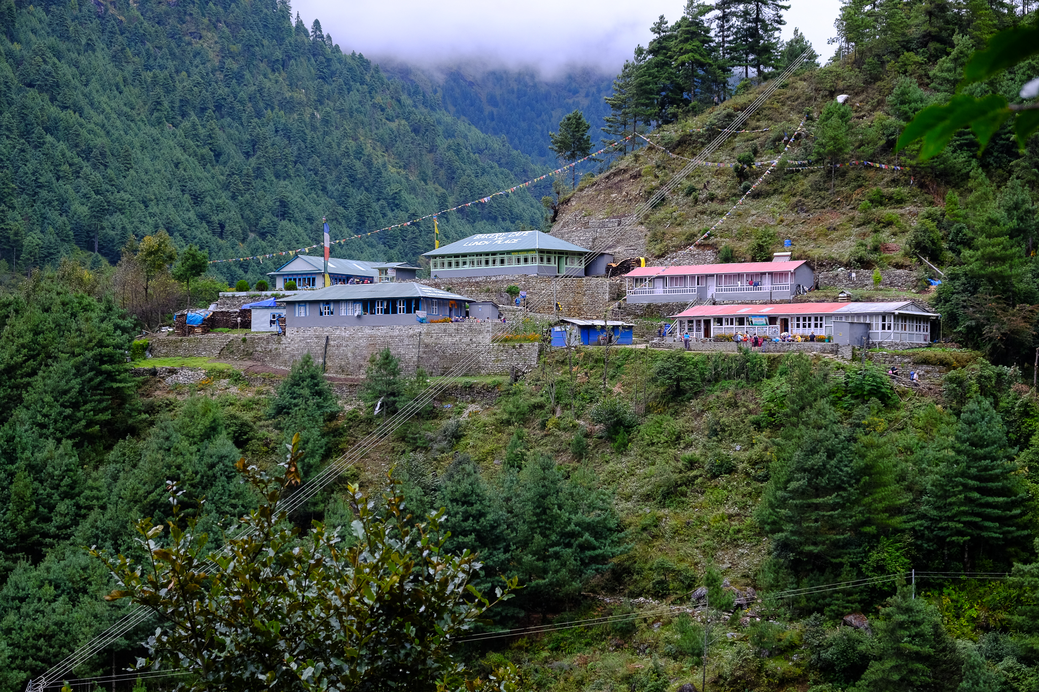 One of the many villages scattered throughout the Khumbu region.