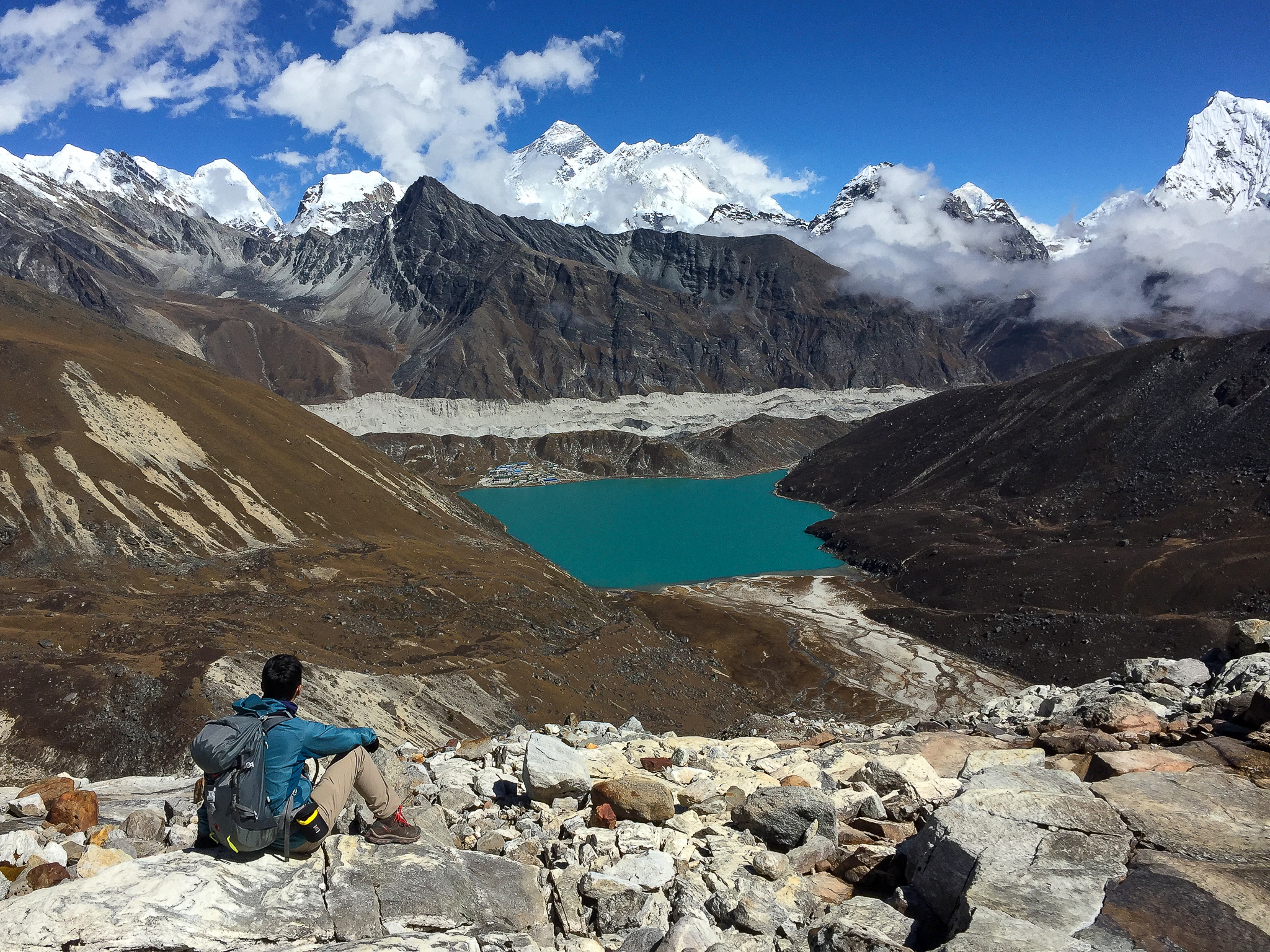 On the way to Gokyo Lakes after passing Renjo La (Pass)