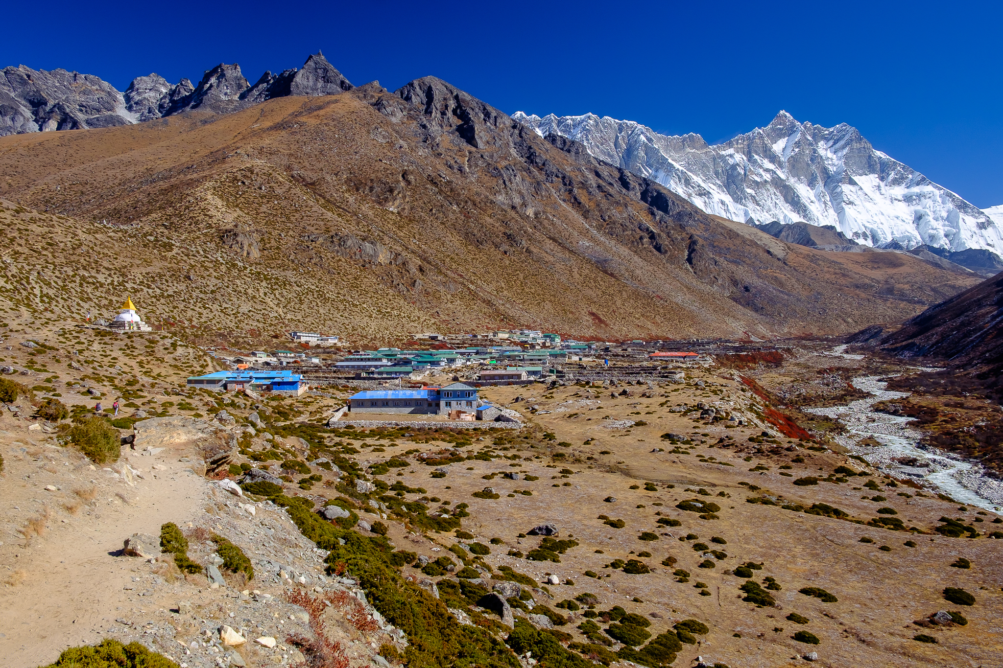 Leaving Dingboche
