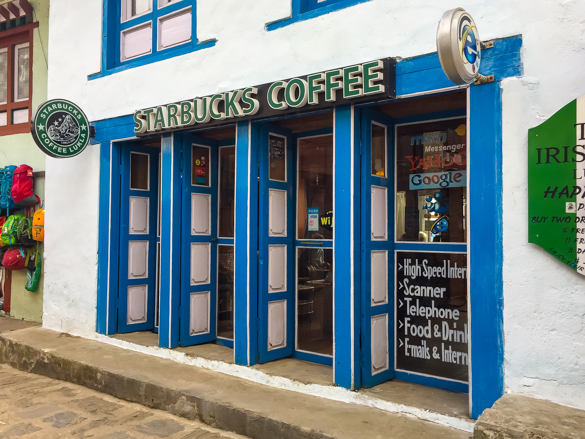 In case you haven't noticed, this isn't actually a real Starbucks~