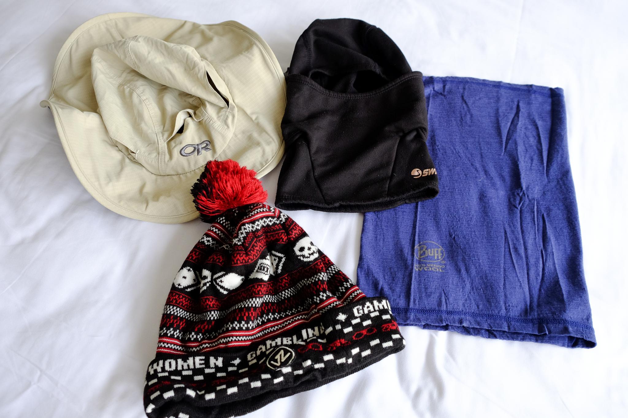 Outdoor Research Sombriolet Sun Hat ,  Swany Balaclava ,  Buff Merino Wool ,  VonZipper Beanie Hat