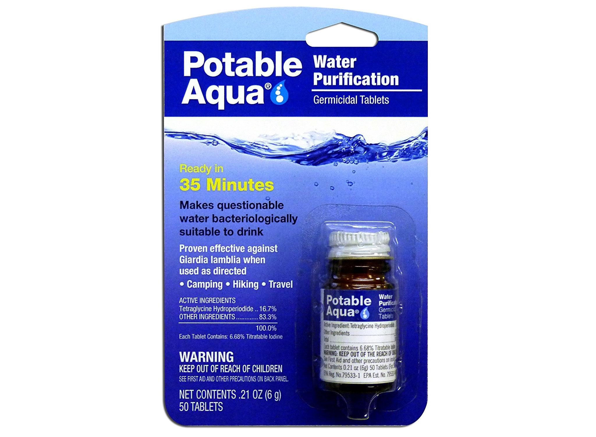 Potable Aqua Water Purification Germicidal Tablets