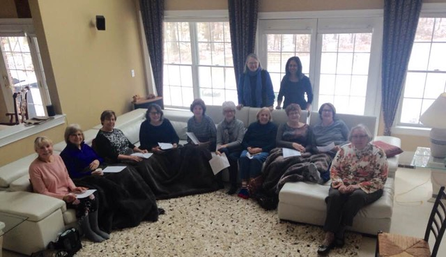 """Wise Women"" group held at Sheila Natwa's home, where we discussed the topic of ""aging."""