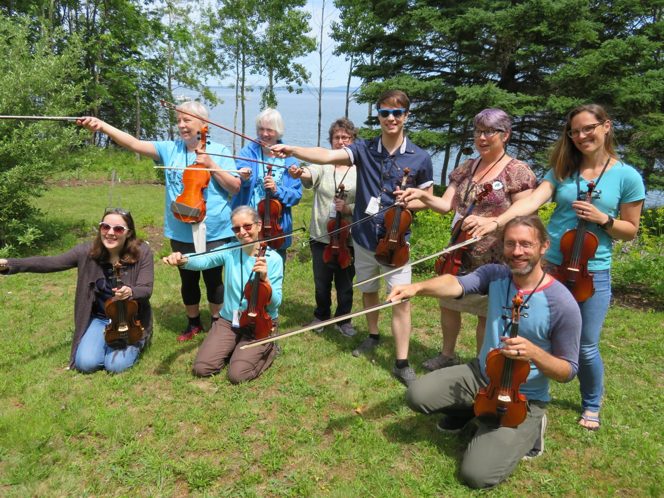 Seán's 2018 Beginner Fiddle Class. At the end of the week, these hard-working students walked away with alot of music and knowledge under their belts!
