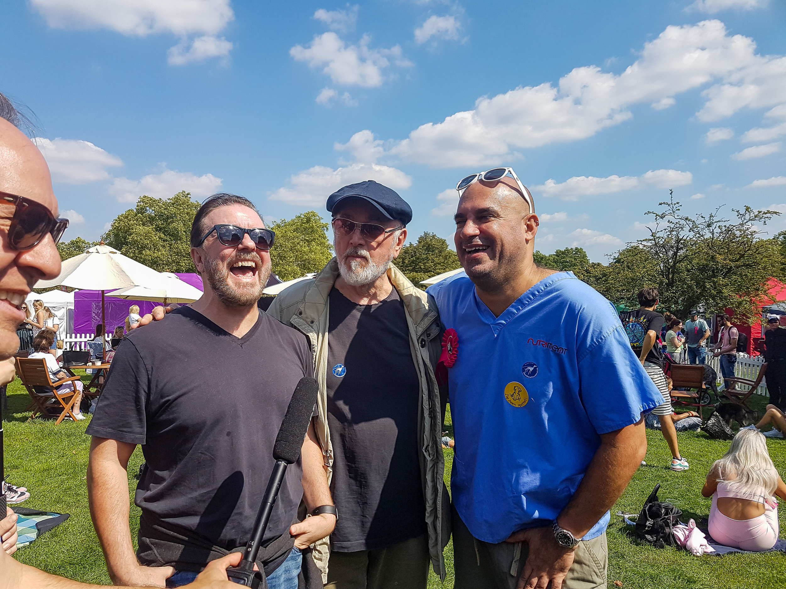 Ricky Gervais & Peter Egan, Pup Aid 2018