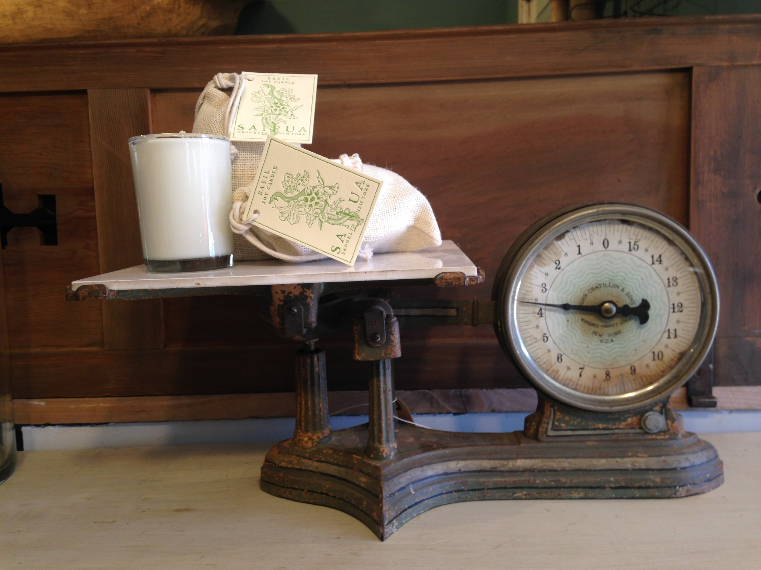 Vintage kitchen scales are an essential accessory. However,  like potato chips you cant have just one.