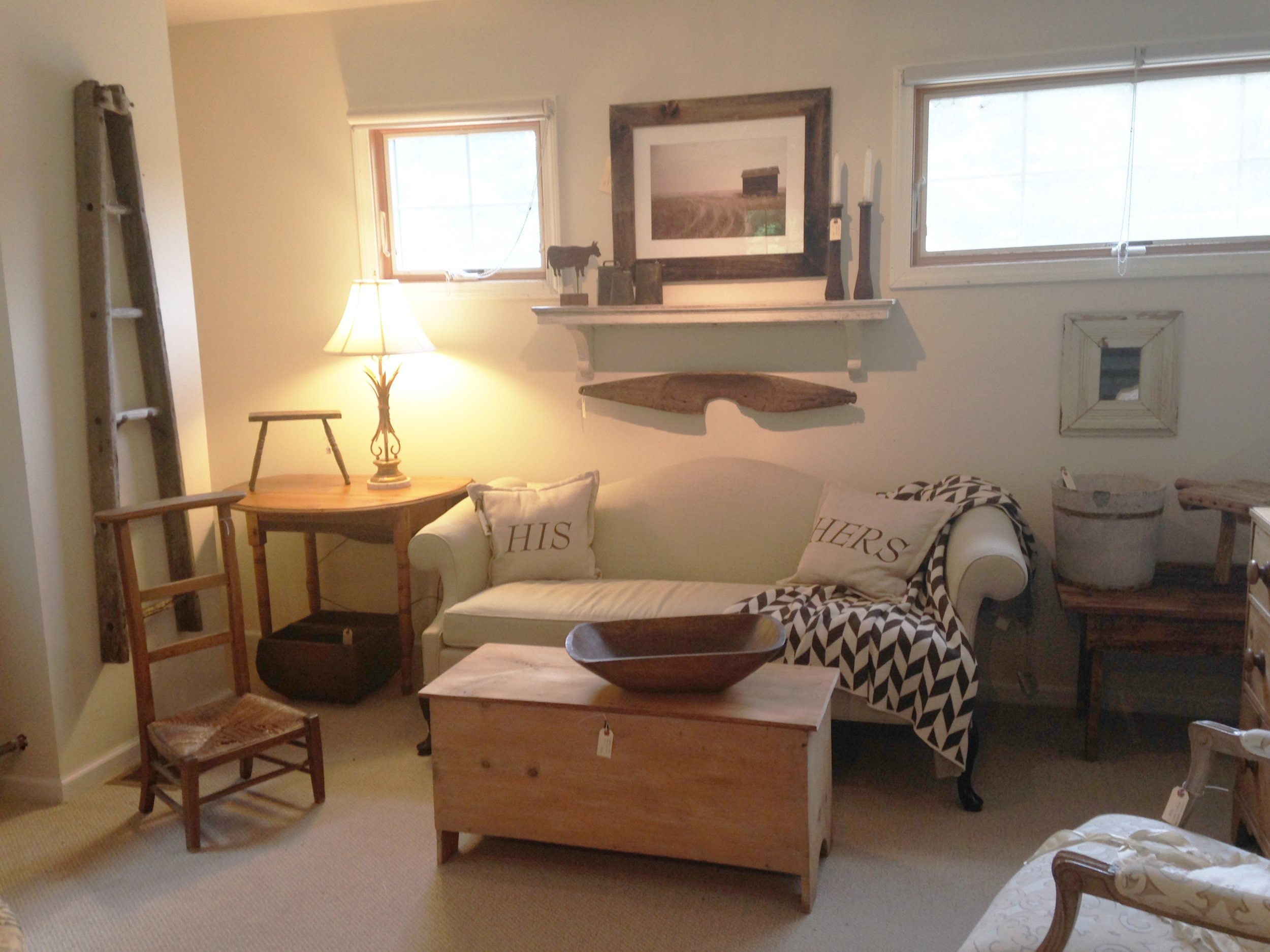 Farmhouse Staging Vignette