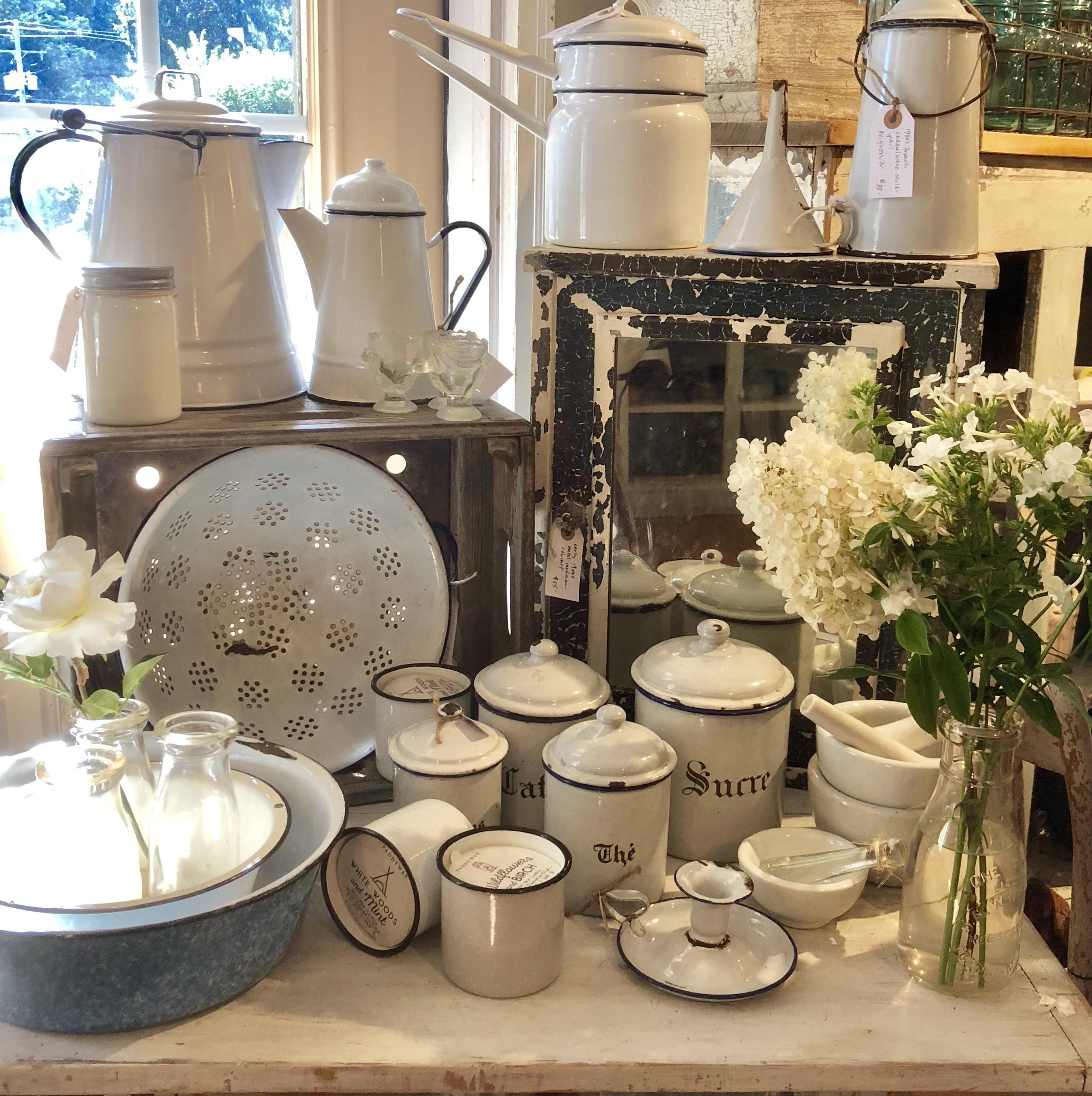 English and French Enamelware