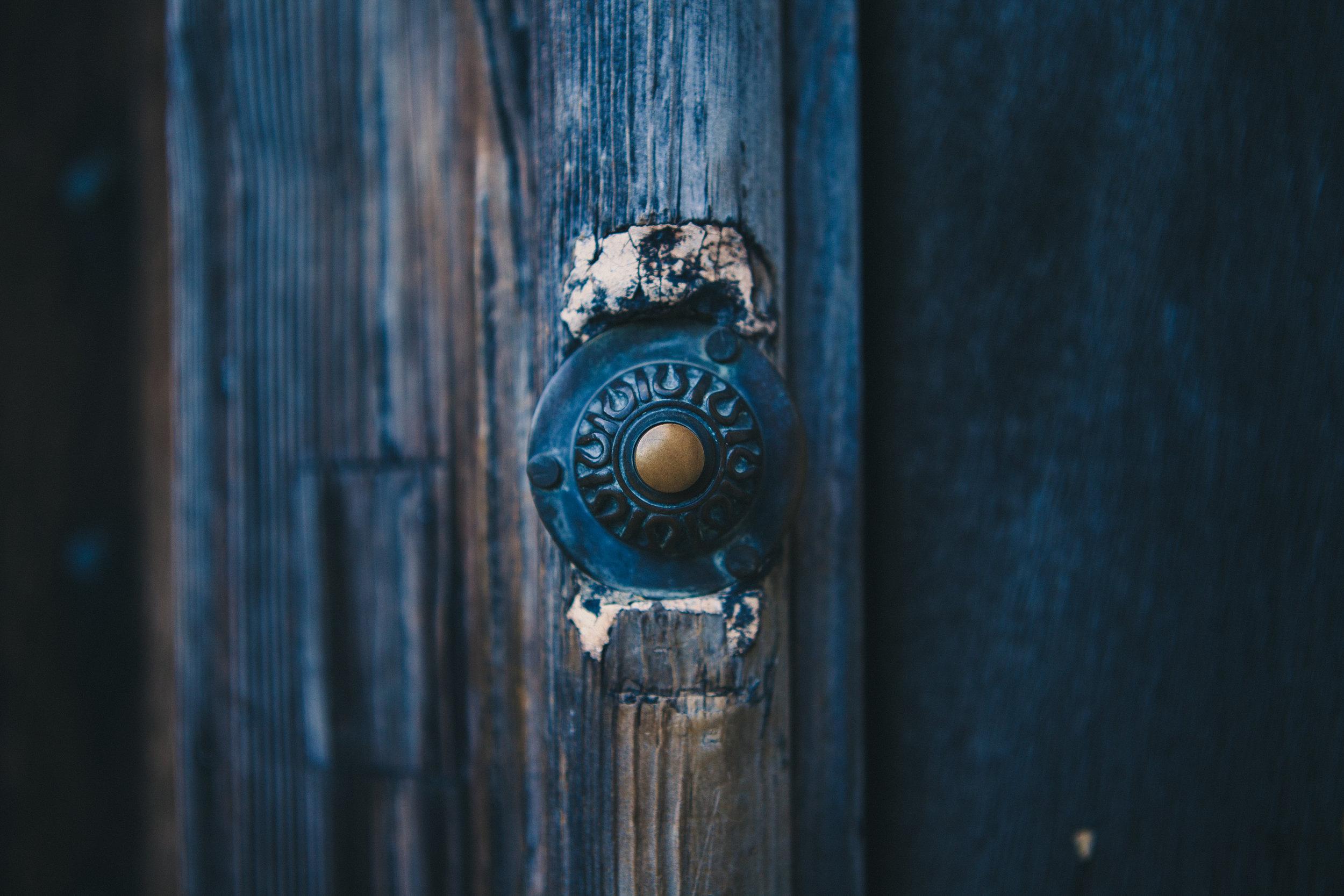 Opening doors.