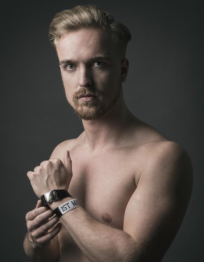 Photographer: Steven Underhill  Wristband:  1stMan1stWoman   Model: Dan Edwards