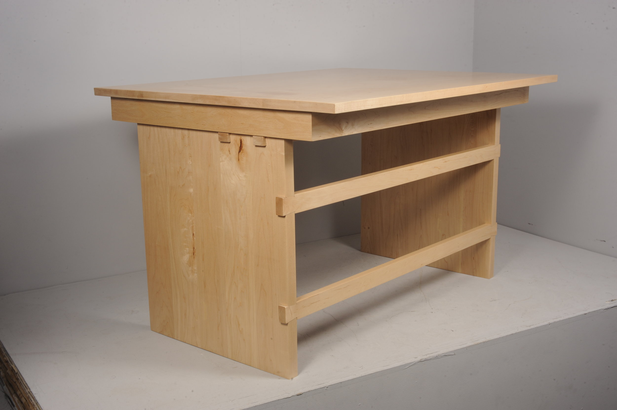 Maple wood office desk
