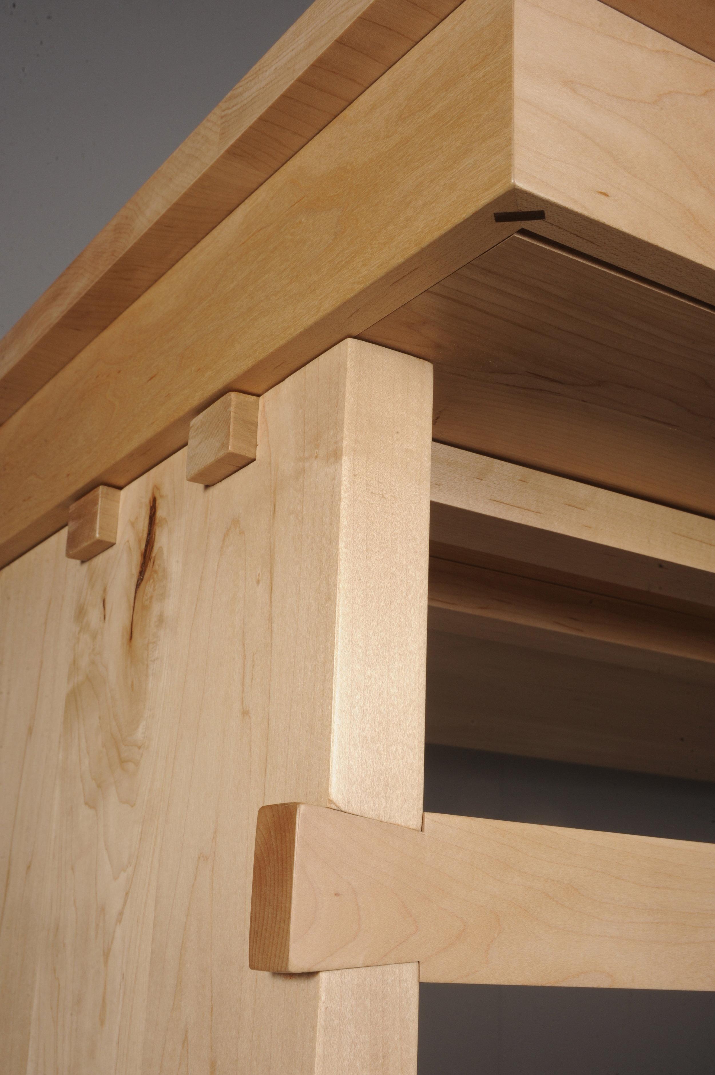 Maple wood office desk