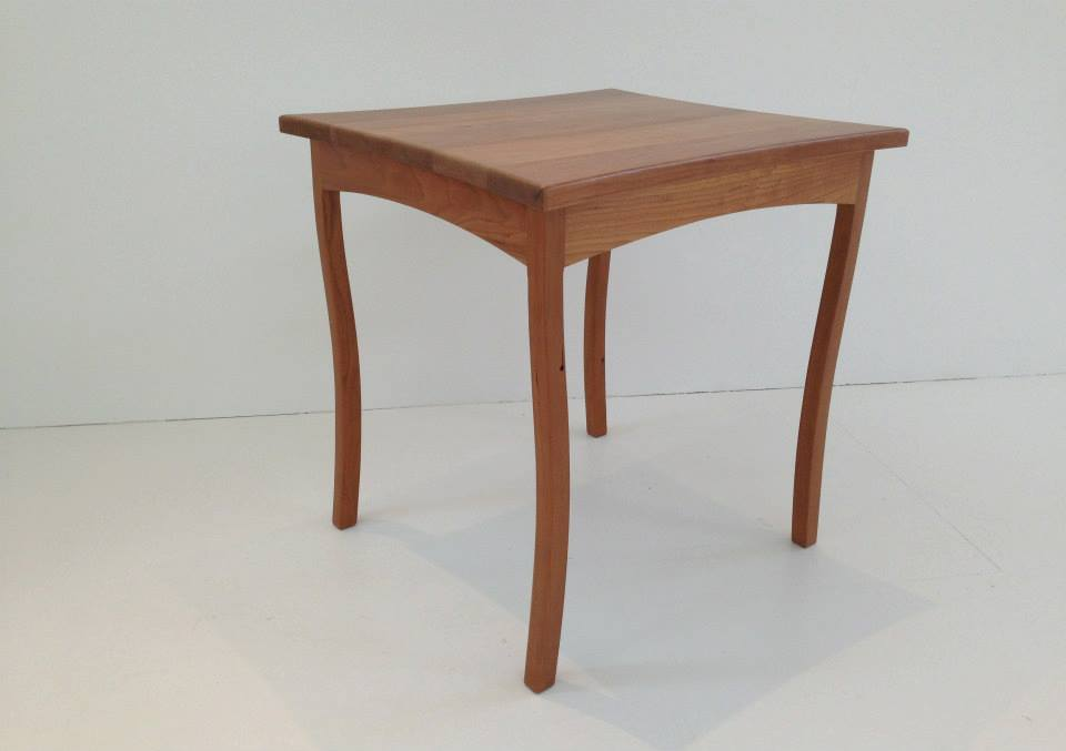 Cherry wood occasional side table