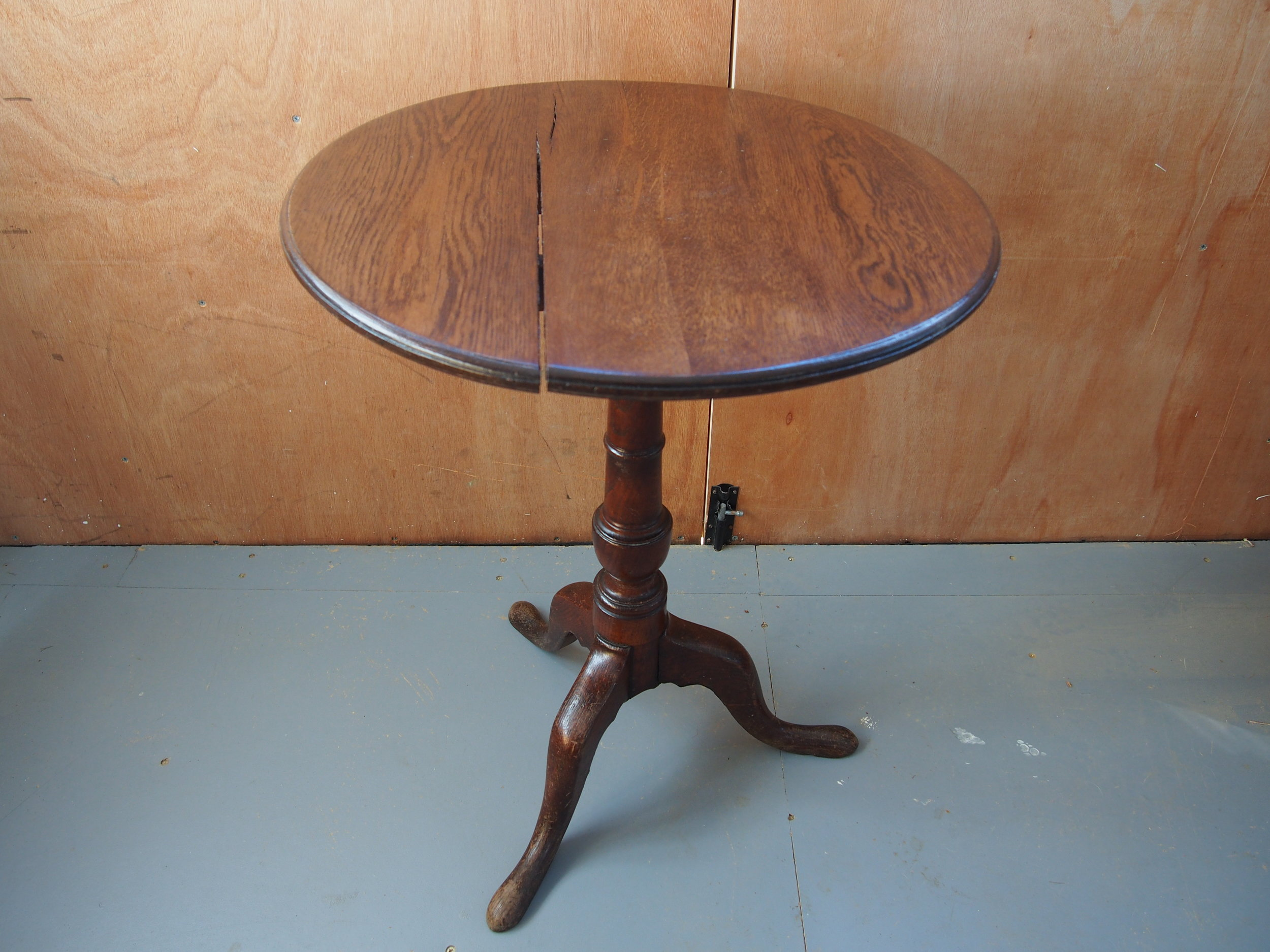 Oak Pedestal Pub Table
