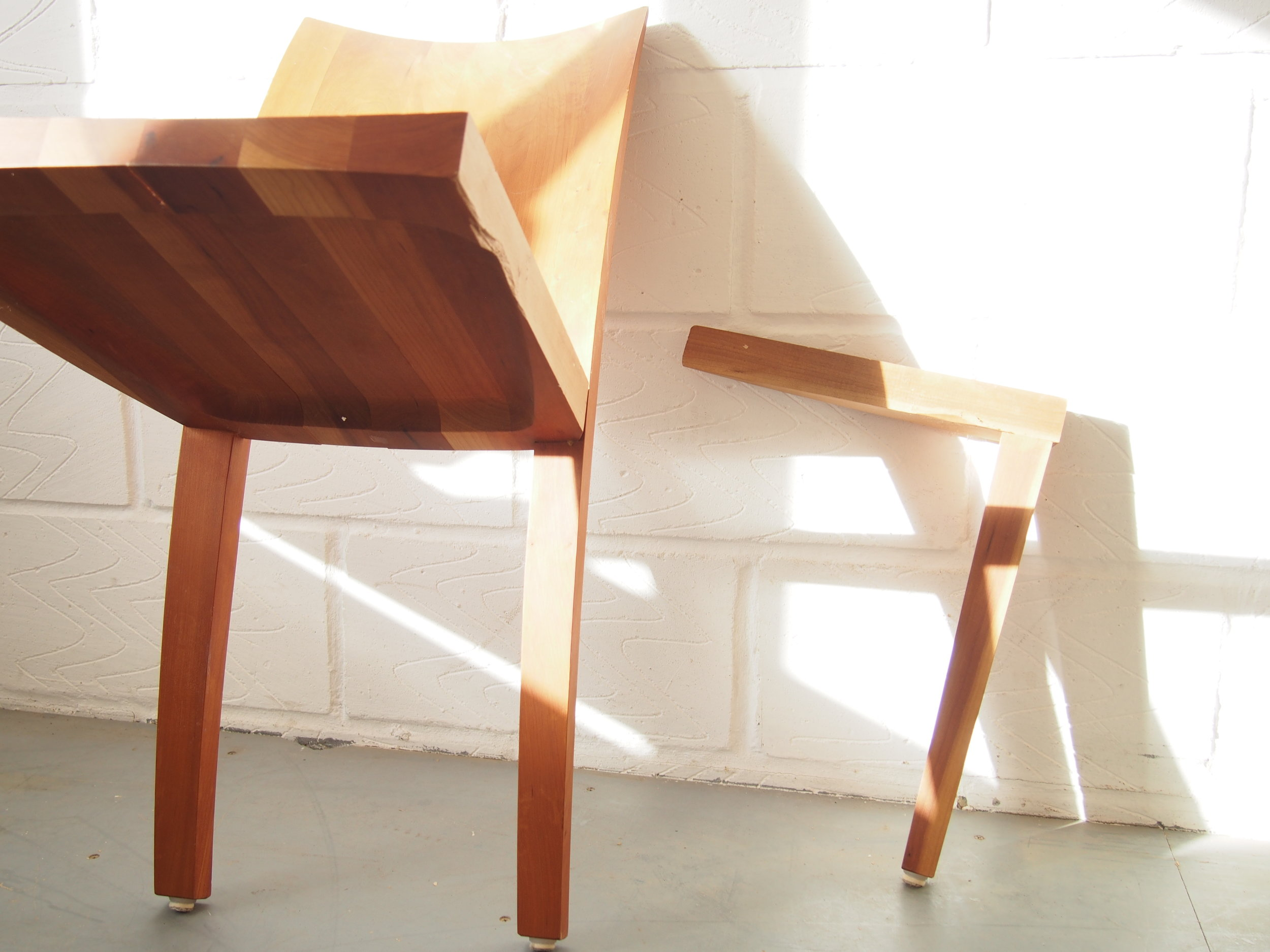 All Five chairs were presented with loose joints and a few chairs had broken parts.