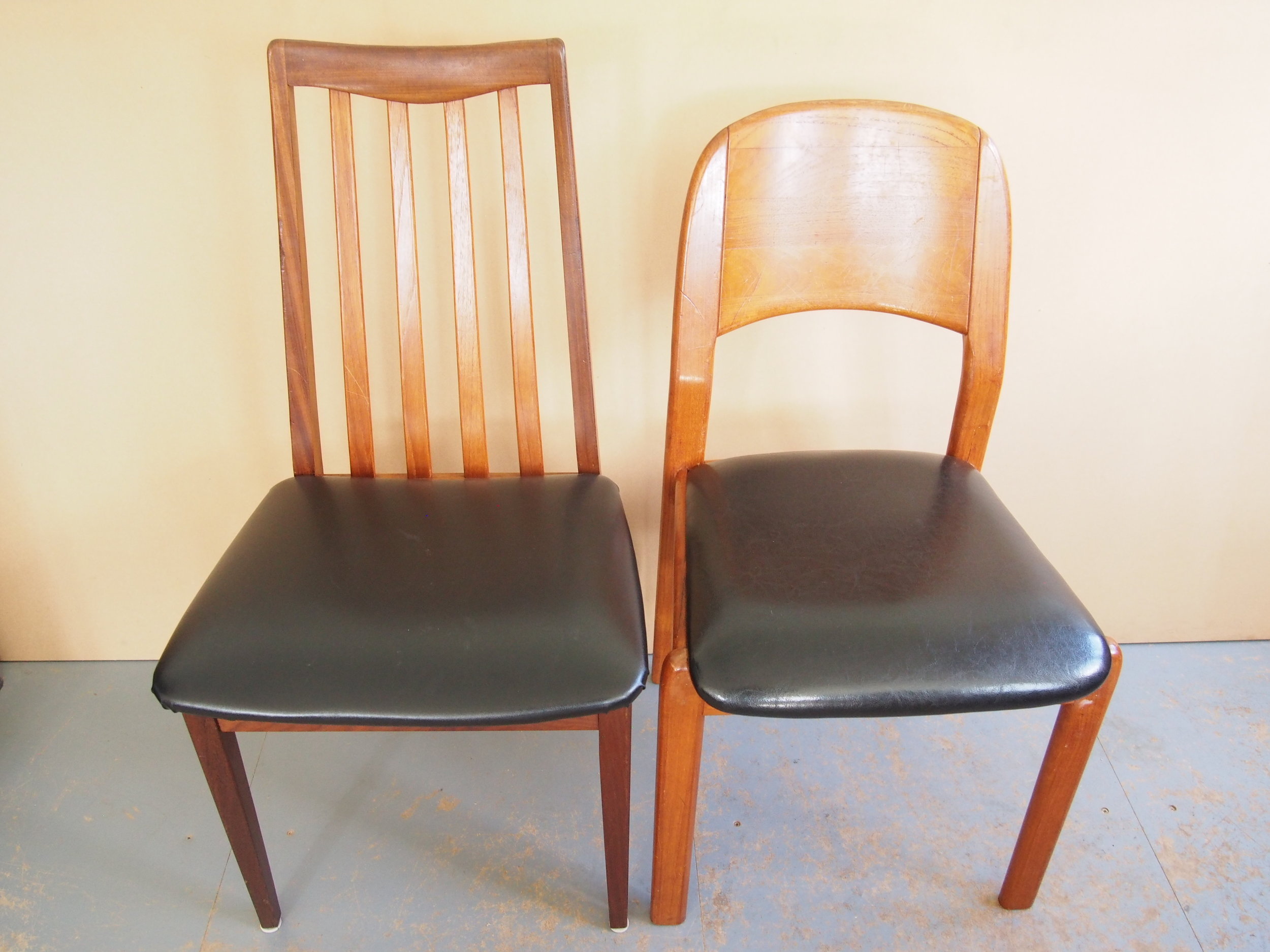 After Restoration of Cherry Wood Dining Chairs   Several broken joints were remade and re enforced for extra strength.
