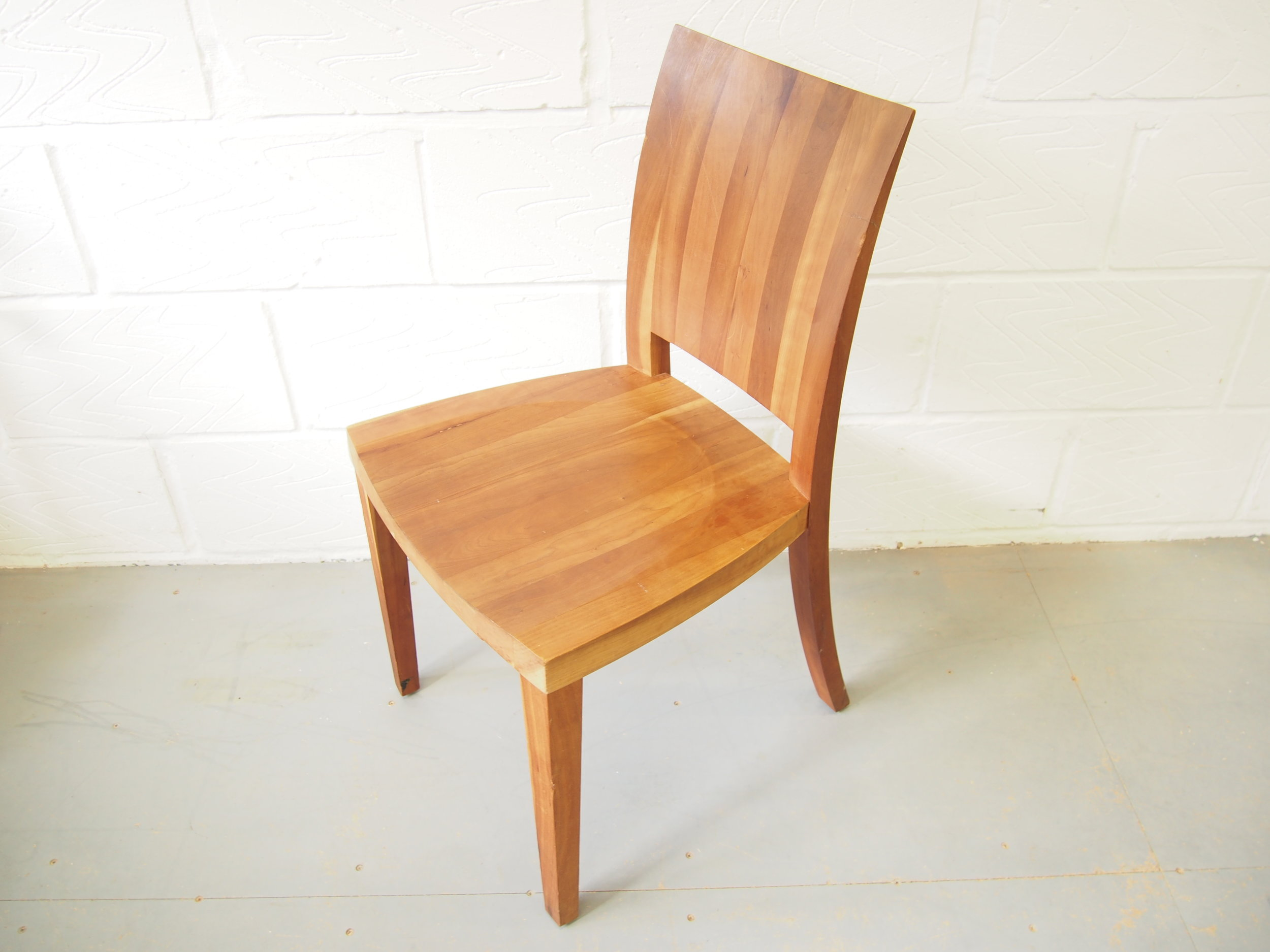 After Restoration of Danish 1920's Riva Set of Dining Chairs   Five chairs were presented with loose joints and a few chairs had broken parts which required reconstructing.