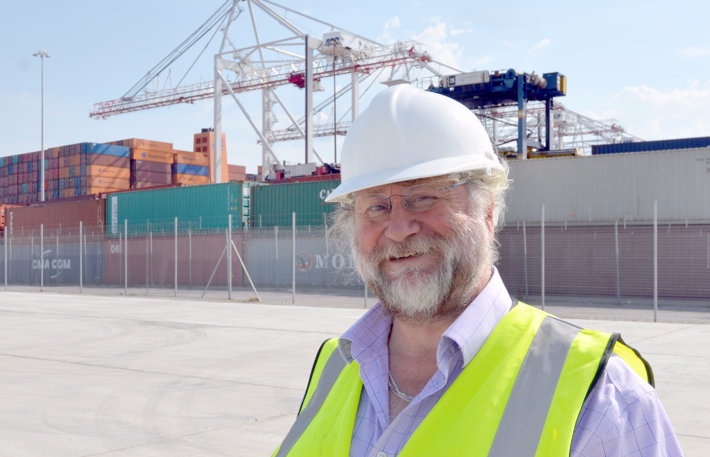 WFBA's consultant civil engineer Paul Todd at the new container site.