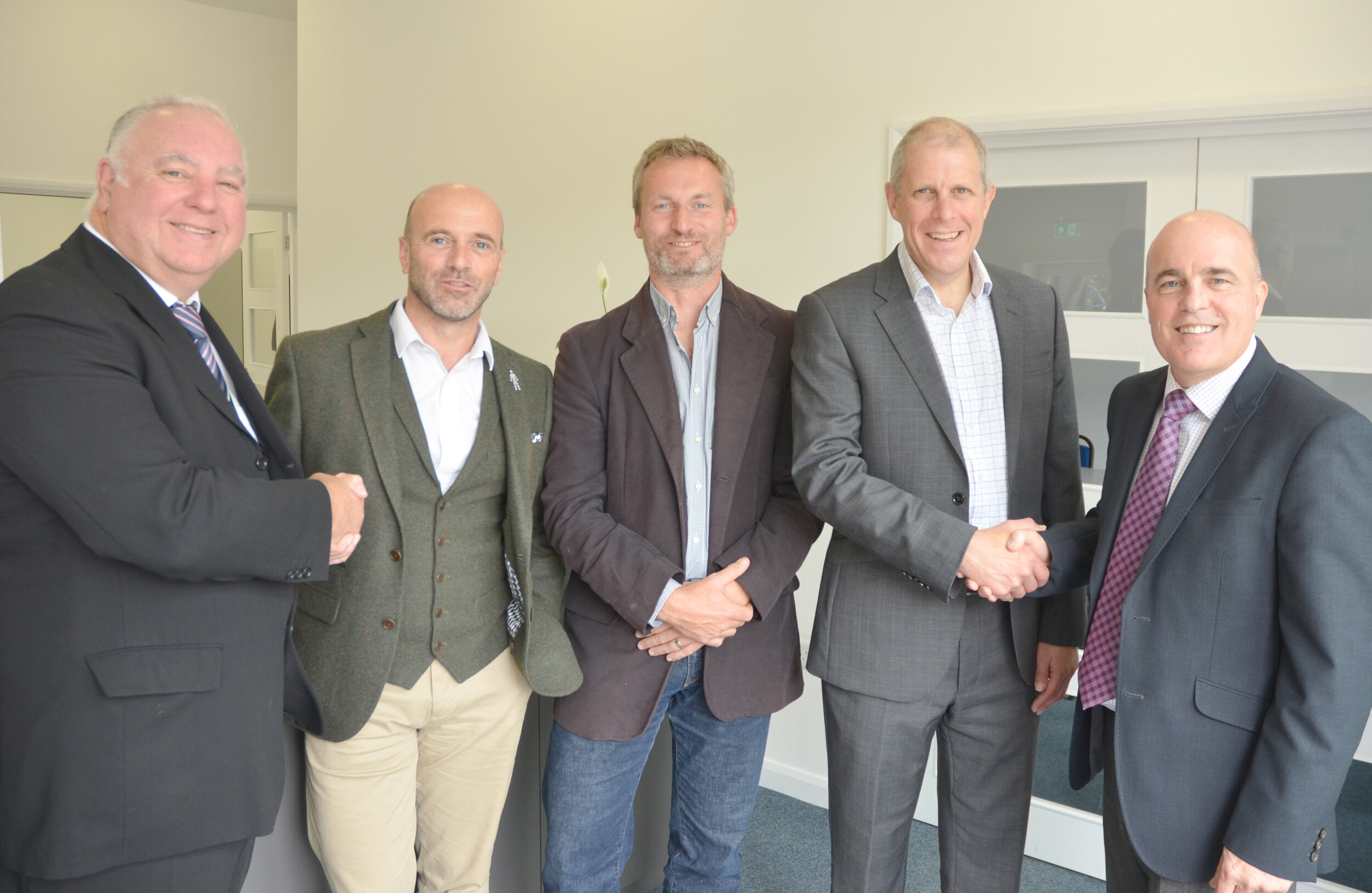 (From Left) Bill Brown, Brian Morton, Alastair Craig, Patrick Fisher and Nick Groves
