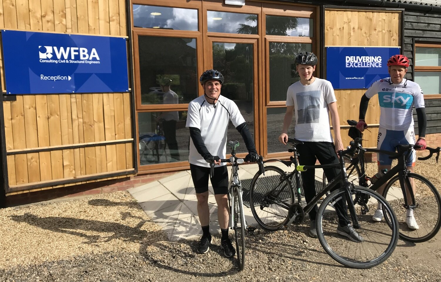 WFBA Cycle Club members (left to right) Nick Groves, Eddy Byfield and Patrick Fisher