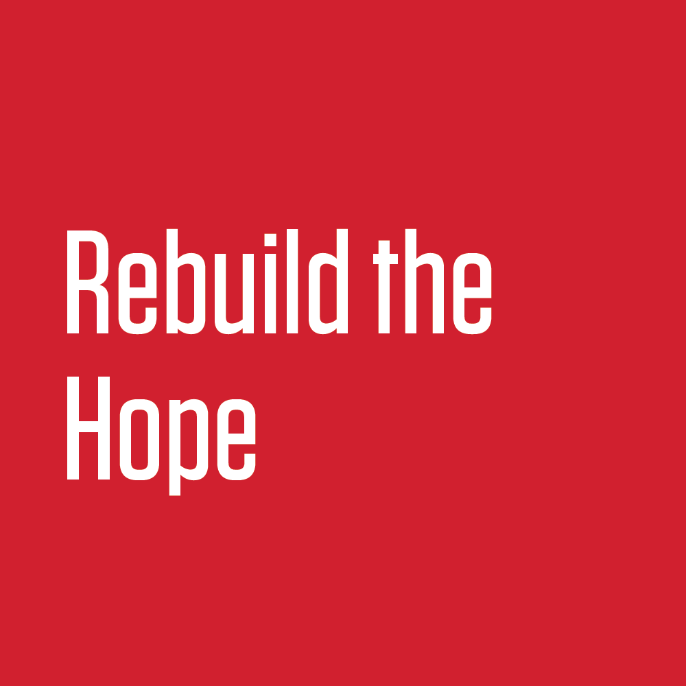 Rebuild the Hope     R  ebuildthehope.org is a website built by former Obama Alumni staff and volunteers meant to provide tools for people looking to take action in their local communities.  Check out the website to find actions you can partake in and tools to help create your own actions and volunteer networks in your local community.
