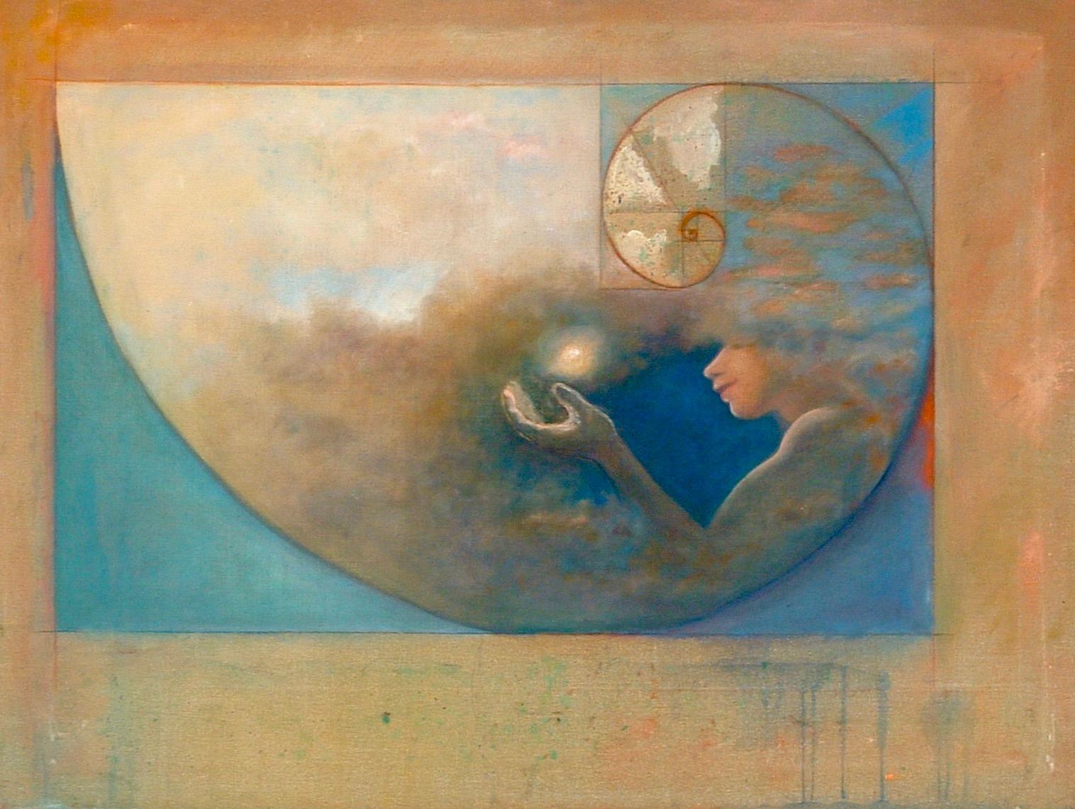 Awakening (Fibinacci Sequence) Mixed Media on Canvas 2.5' x 4'