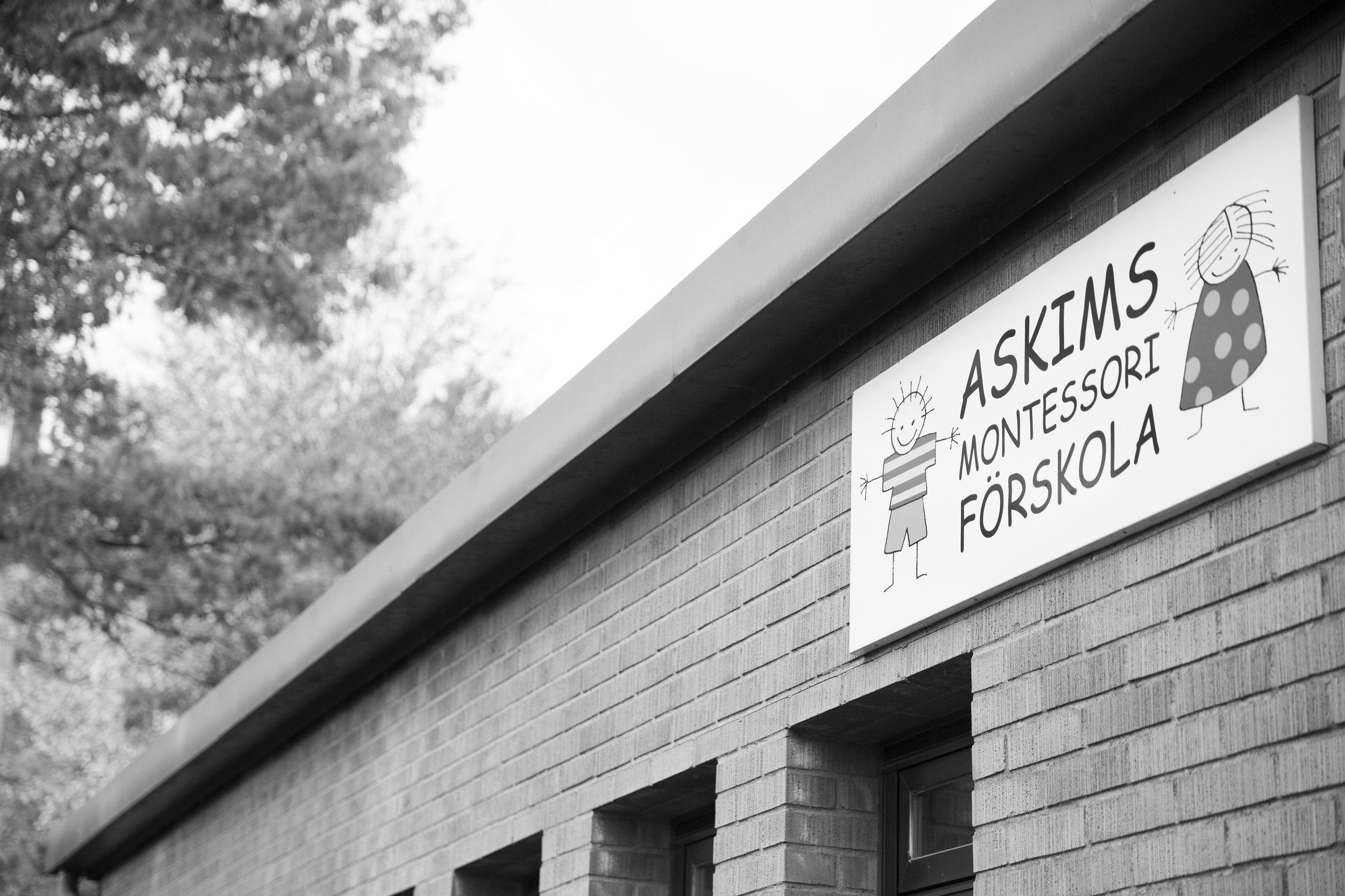 Askims Montessoriförskola - Vår skylt