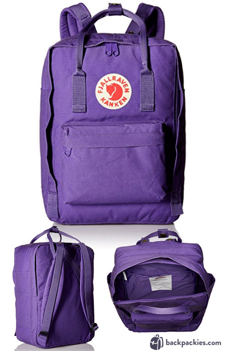 Fjallraven Kanken Laptop backpack - Cute Backpacks for College and Where to Buy Them. See the full list at backpackies.com