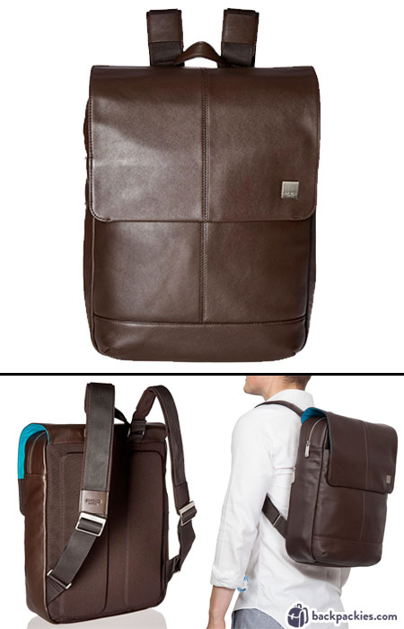 Knomo Hudson leather backpack for men. We list the best men's backpacks for work. Come see which other business backpacks made the list!