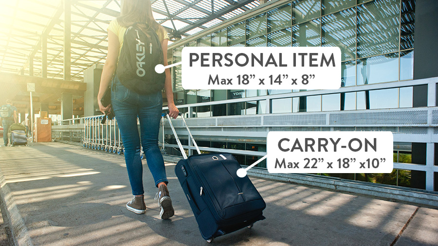 Spirit Airlines personal item and carry-on difference