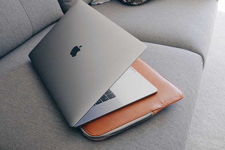 Using a padded laptop sleeve