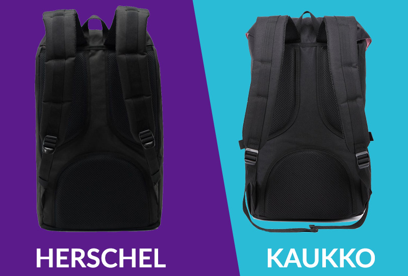 Herschel vs Kaukko comfort comparison