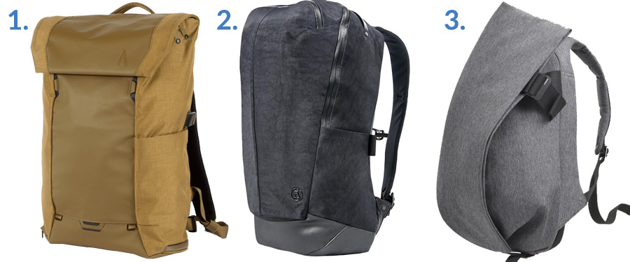 1. Boundary Supply Errant Pack ( Boundary Supply )  2. Alchemy Equipment Daypack ( Gallantry )  3. Côte&Ciel Isar ( Amazon )