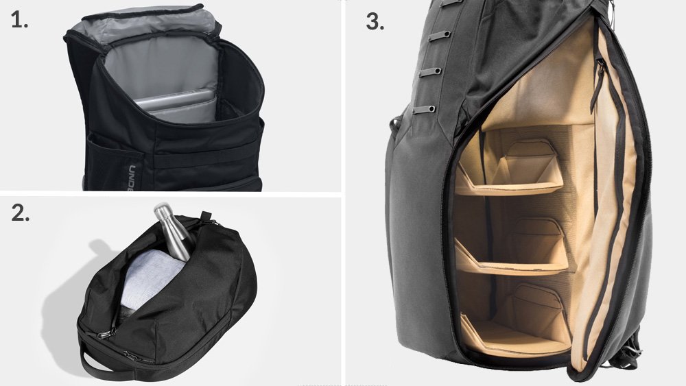 Types of backpack access - Top access, front access and side access backpacks