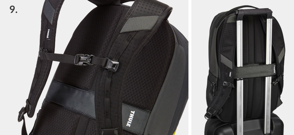 luggage sleeve pass through backpack