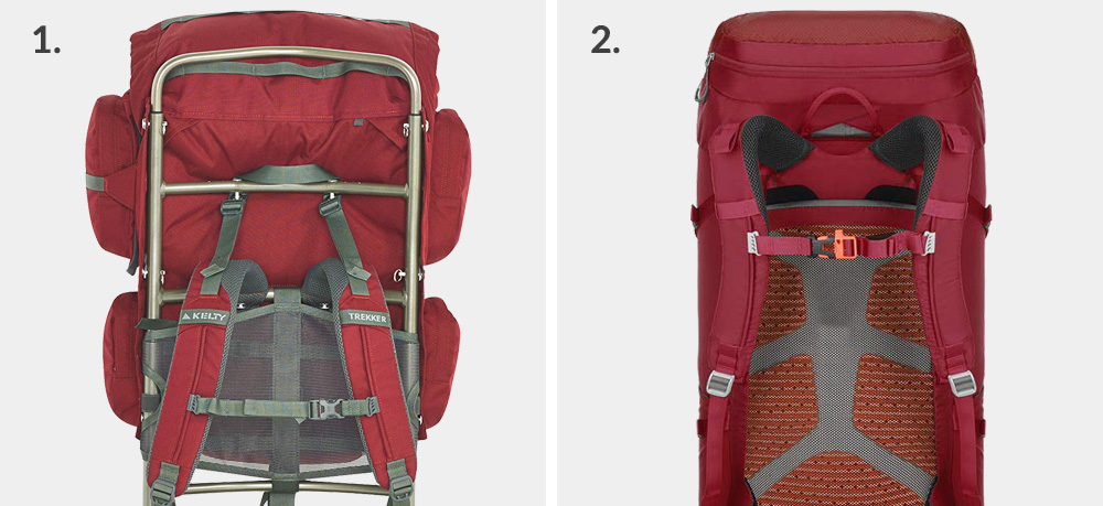 Anatomy of a backpack: external frame vs internal frame backpack