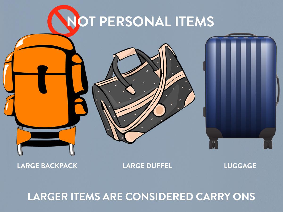 Delta personal item size limit