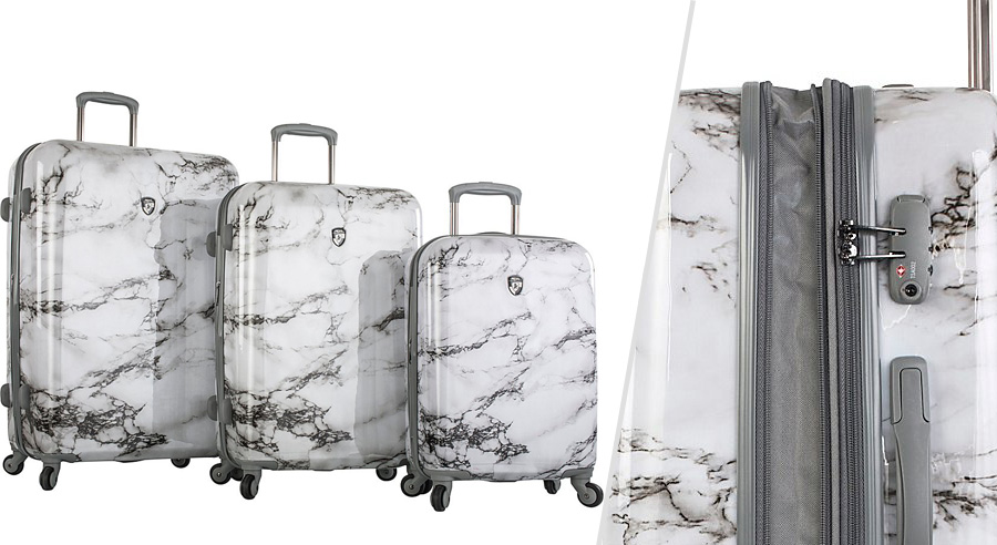 Heys American marble luggage set for teens